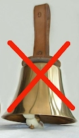 do not put handbell on its head